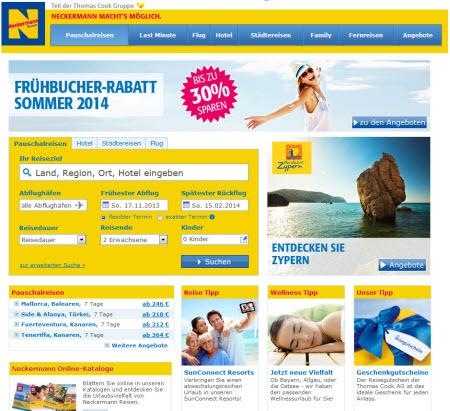 neckermann-reisen-webseite